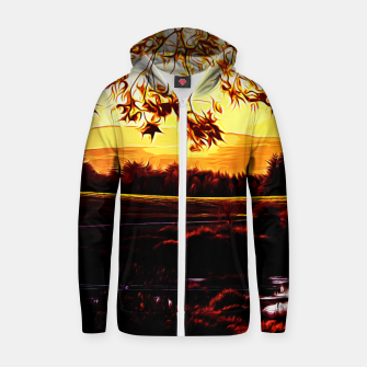 Thumbnail image of idyllic nature landscape vayr Zip up hoodie, Live Heroes