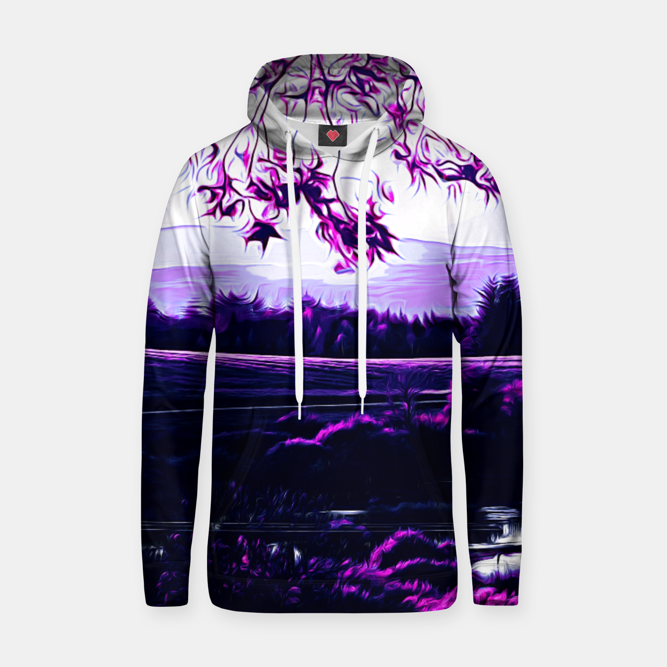 Image of idyllic nature landscape vadb Hoodie - Live Heroes