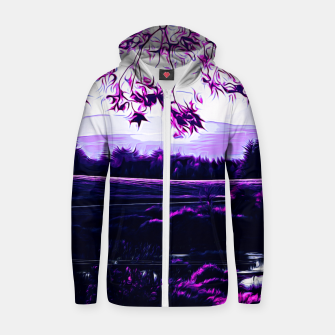 Thumbnail image of idyllic nature landscape vadb Zip up hoodie, Live Heroes