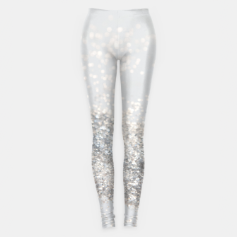 Silver Gray Glitter #3 #shiny #decor #art Leggings thumbnail image