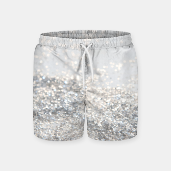 Silver Gray Glitter #3 #shiny #decor #art Badeshorts thumbnail image