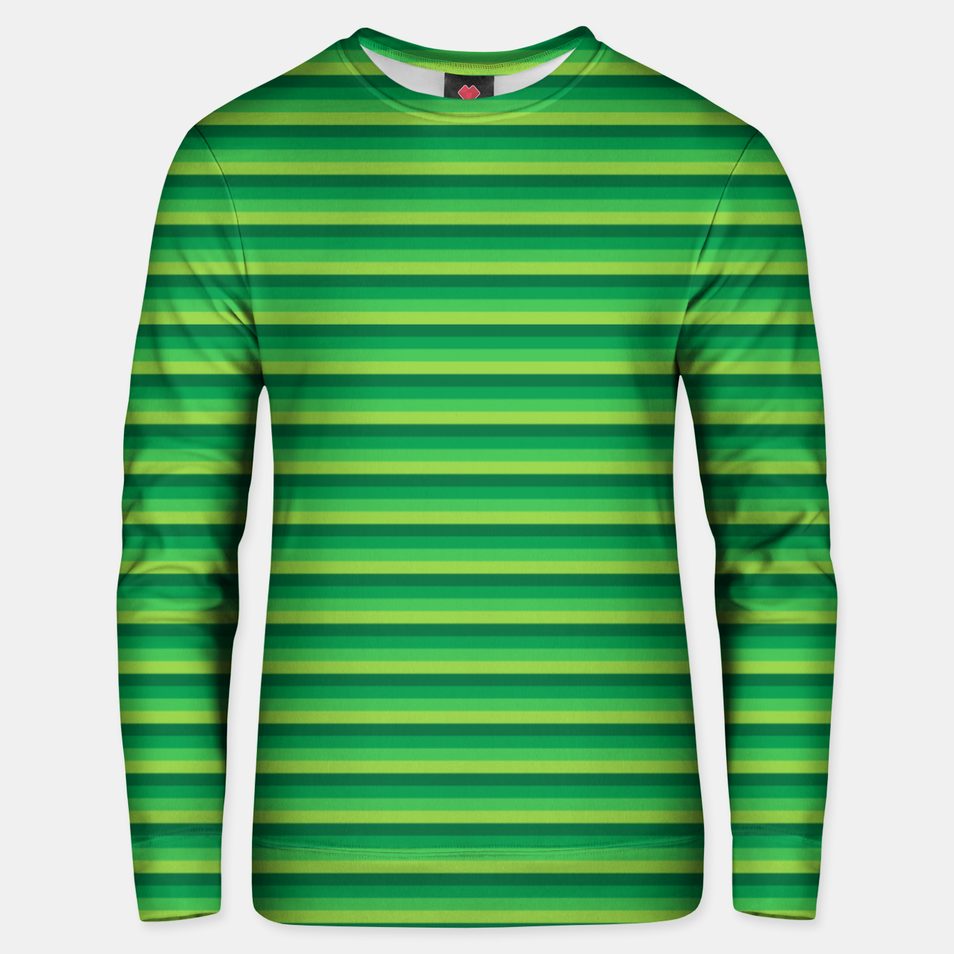 Image of Green Gradient Stripes pattern  Unisex sweater - Live Heroes