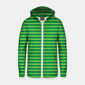 Miniatur Green Gradient Stripes pattern  Zip up hoodie, Live Heroes
