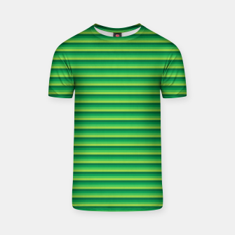Green Gradient Stripes pattern  T-shirt thumbnail image