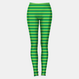 Miniatur Green Gradient Stripes pattern  Leggings, Live Heroes