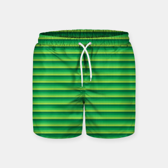 Miniatur Green Gradient Stripes pattern  Swim Shorts, Live Heroes