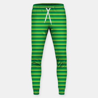 Miniatur Green Gradient Stripes pattern  Sweatpants, Live Heroes