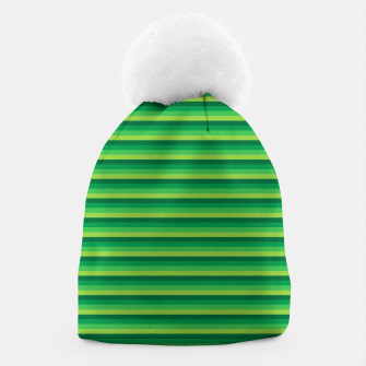 Miniatur Green Gradient Stripes pattern  Beanie, Live Heroes