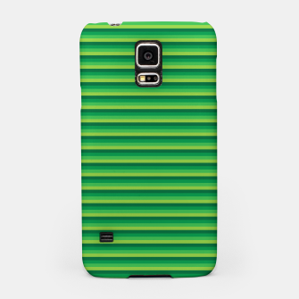 Miniatur Green Gradient Stripes pattern  Samsung Case, Live Heroes