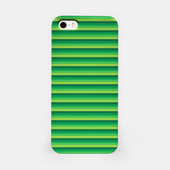 Miniatur Green Gradient Stripes pattern  iPhone Case, Live Heroes