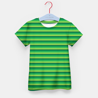 Green Gradient Stripes pattern  Kid's t-shirt thumbnail image