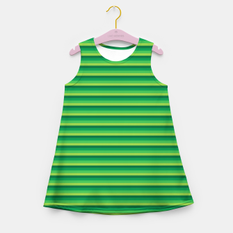 Miniatur Green Gradient Stripes pattern  Girl's summer dress, Live Heroes