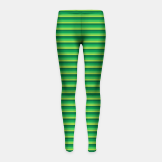 Miniatur Green Gradient Stripes pattern  Girl's leggings, Live Heroes