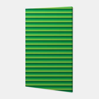 Green Gradient Stripes pattern  Canvas thumbnail image