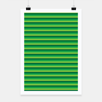 Miniatur Green Gradient Stripes pattern  Poster, Live Heroes