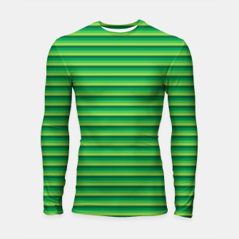 Green Gradient Stripes pattern  Longsleeve rashguard  thumbnail image