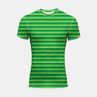 Green Gradient Stripes pattern  Shortsleeve rashguard thumbnail image