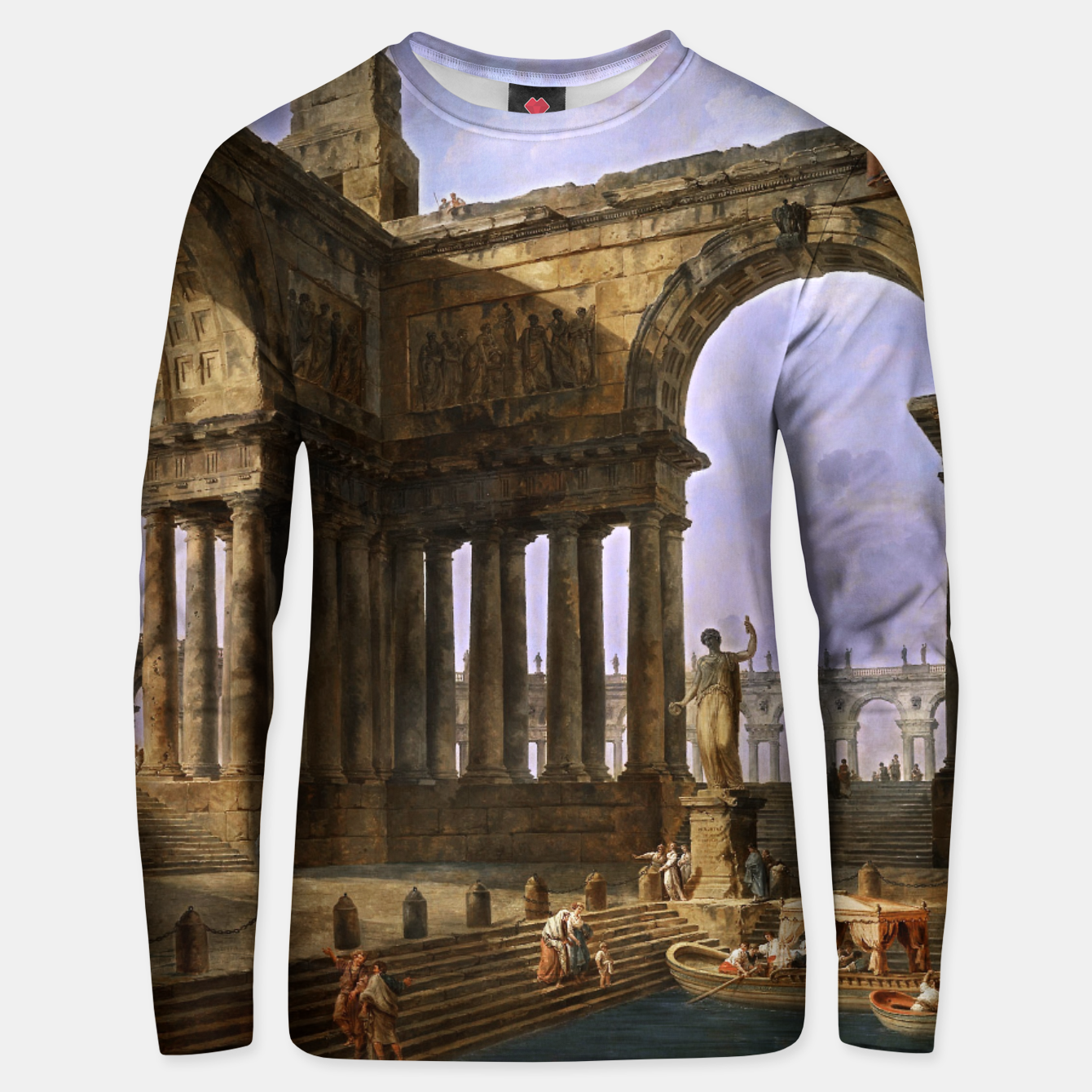 Image of The Landing Place by Hubert Robert Unisex sweater - Live Heroes