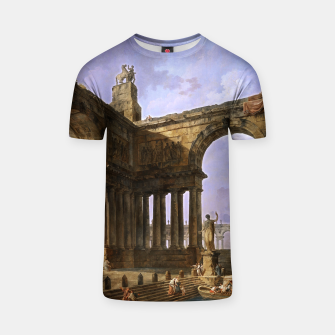 The Landing Place by Hubert Robert T-shirt thumbnail image