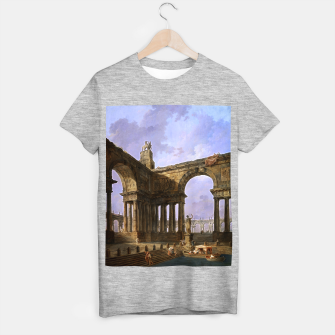The Landing Place by Hubert Robert T-shirt regular thumbnail image