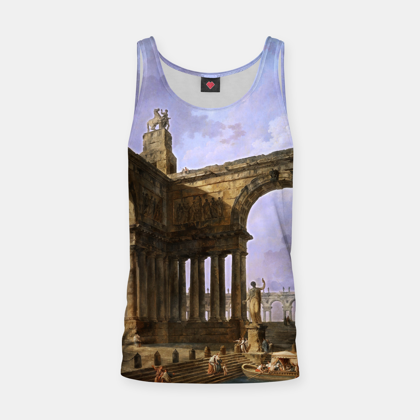 Image of The Landing Place by Hubert Robert Tank Top - Live Heroes