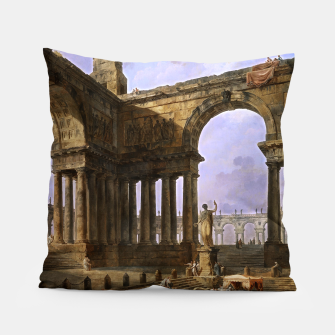 The Landing Place by Hubert Robert Pillow thumbnail image