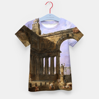 The Landing Place by Hubert Robert Kid's t-shirt thumbnail image