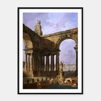 The Landing Place by Hubert Robert Framed poster thumbnail image
