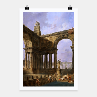 The Landing Place by Hubert Robert Poster thumbnail image