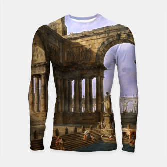 Thumbnail image of The Landing Place by Hubert Robert Longsleeve rashguard , Live Heroes