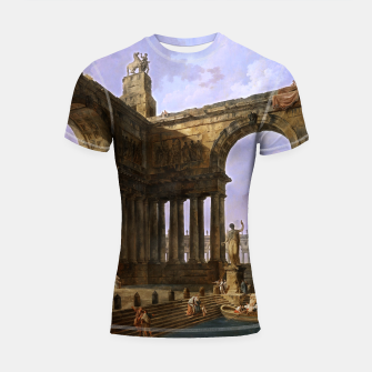 The Landing Place by Hubert Robert Shortsleeve rashguard thumbnail image