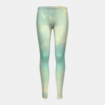 Miniatur Pastel skies Girl's leggings, Live Heroes