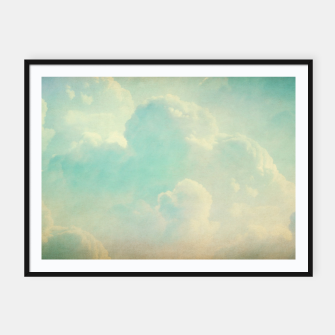 Thumbnail image of Pastel skies Framed poster, Live Heroes