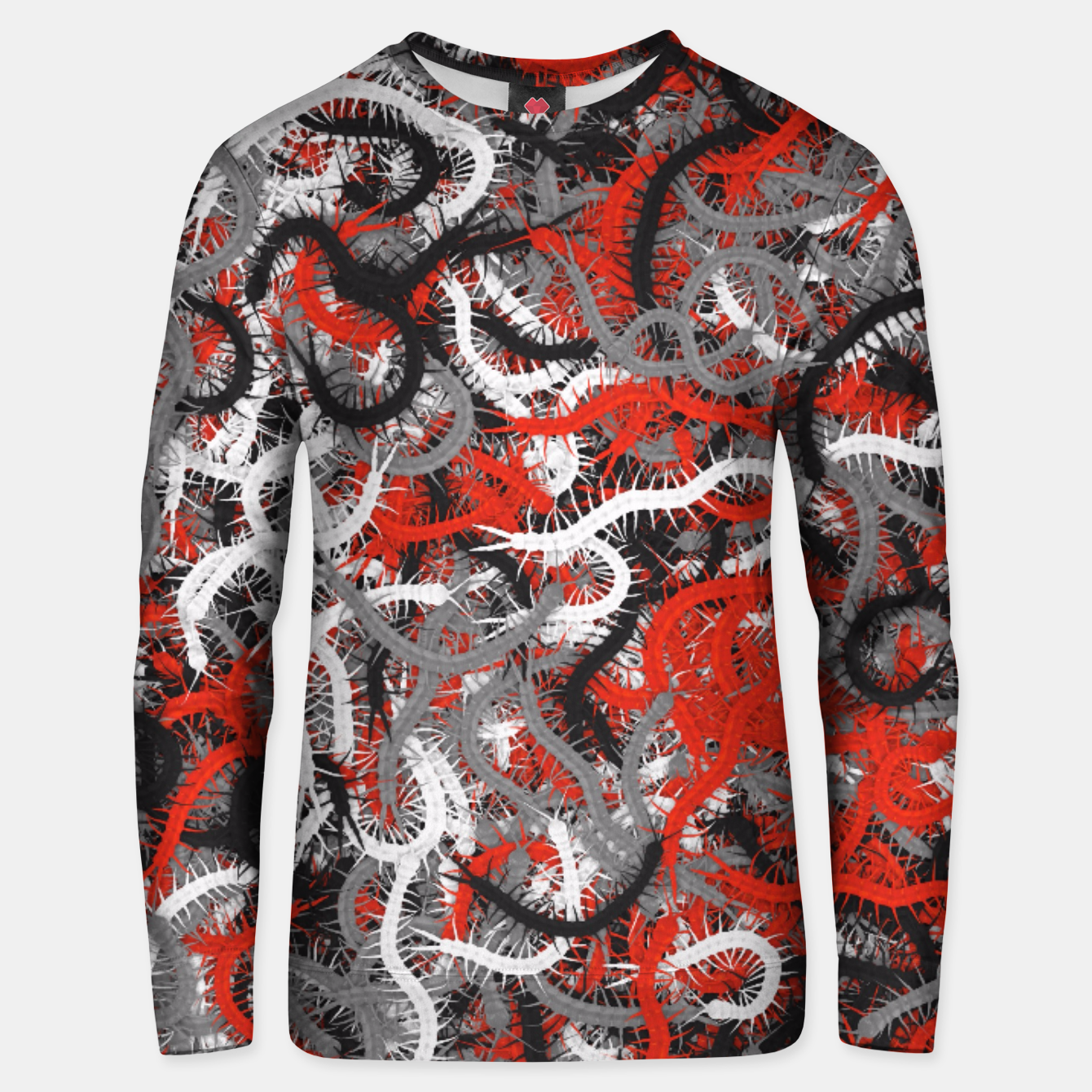 Image of Centipedes red-gray camouflage Unisex sweater - Live Heroes