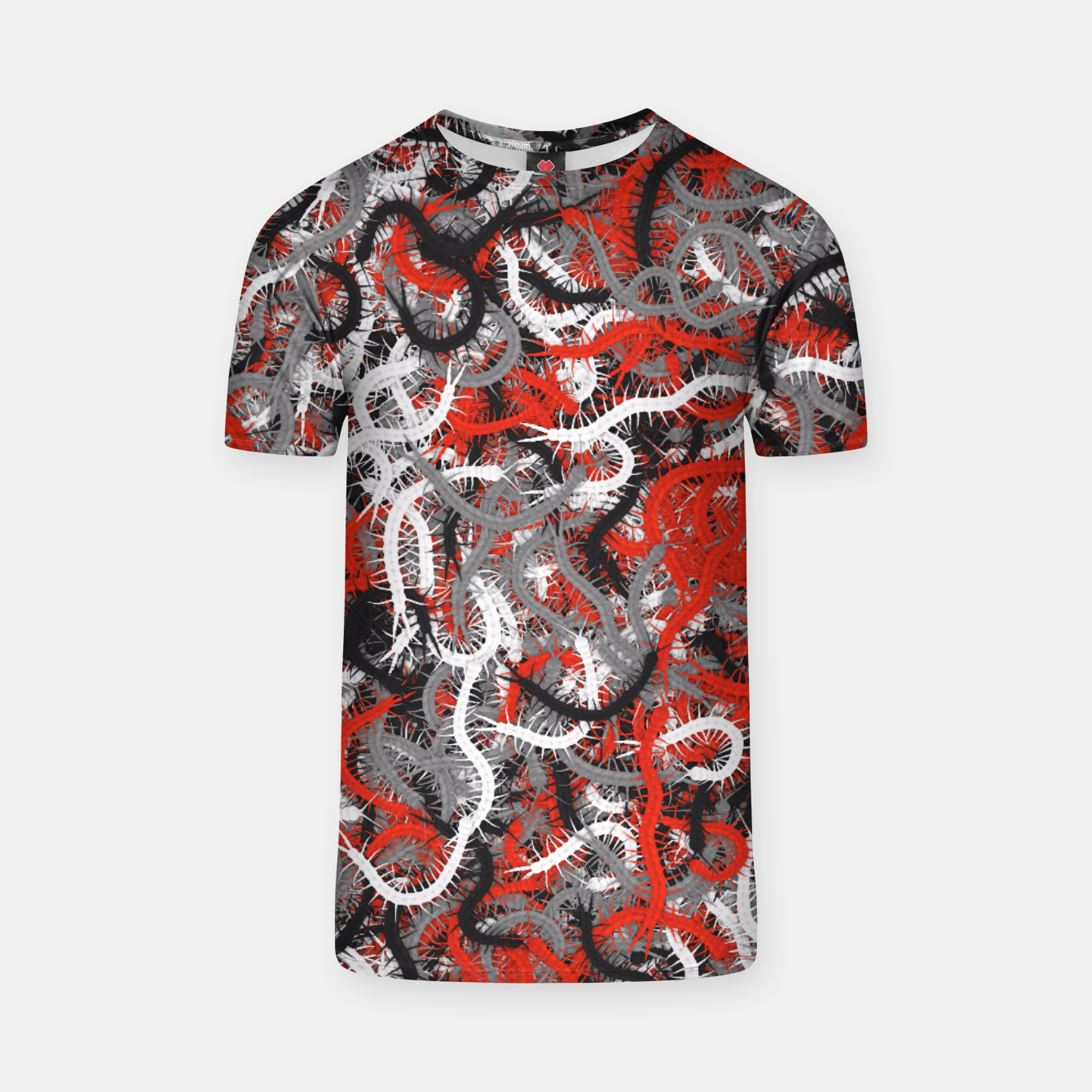 Image of Centipedes red-gray camouflage T-shirt - Live Heroes
