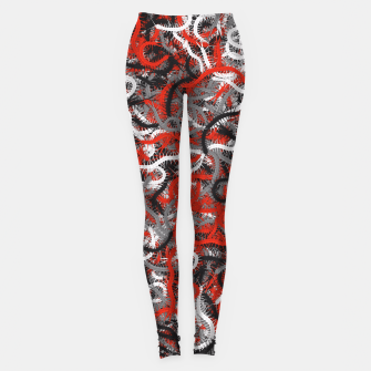 Centipedes red-gray camouflage Leggings thumbnail image