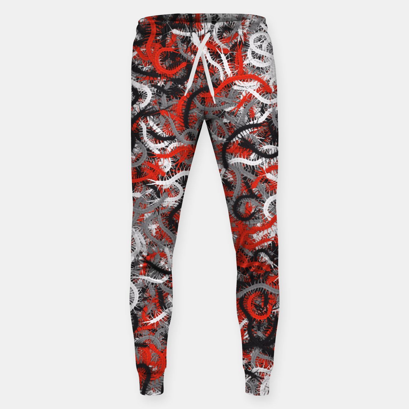 Image of Centipedes red-gray camouflage Sweatpants - Live Heroes