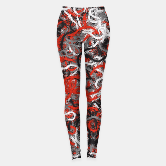 Thumbnail image of Centipedes red-gray camouflage Leggings, Live Heroes