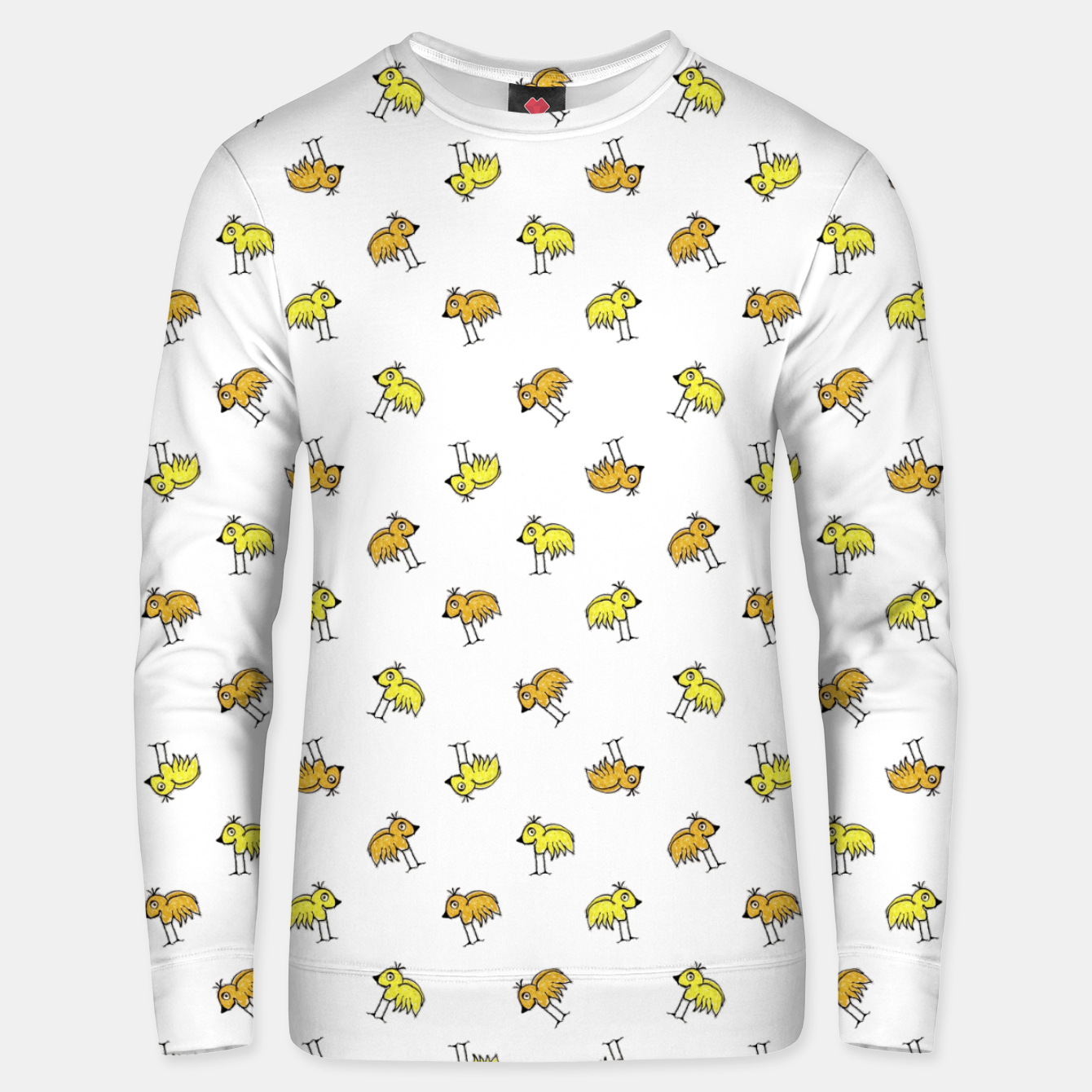 Image of Birds Motif Drawing Print Pattern Unisex sweater - Live Heroes