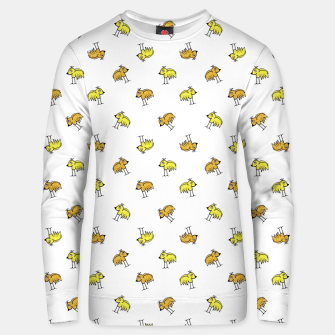Birds Motif Drawing Print Pattern Unisex sweater obraz miniatury