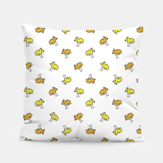 Birds Motif Drawing Print Pattern Pillow thumbnail image