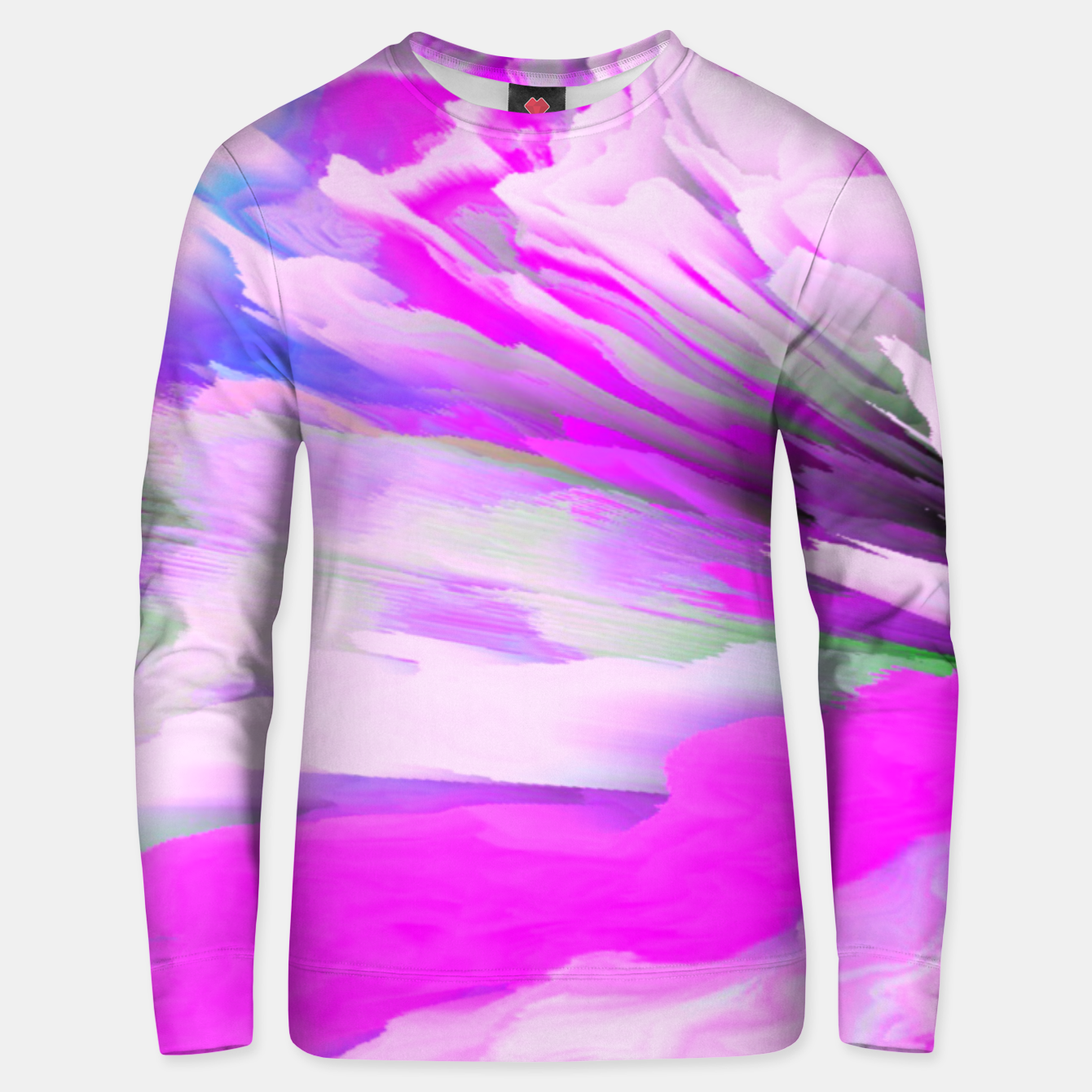Image of Friendly Enemy Glitched Fluid Art Unisex sweater - Live Heroes