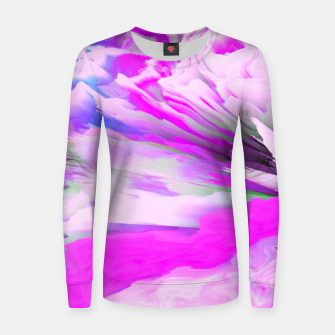 Friendly Enemy Glitched Fluid Art Women sweater thumbnail image