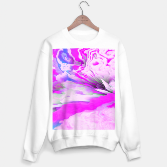 Friendly Enemy Glitched Fluid Art Sweater regular thumbnail image