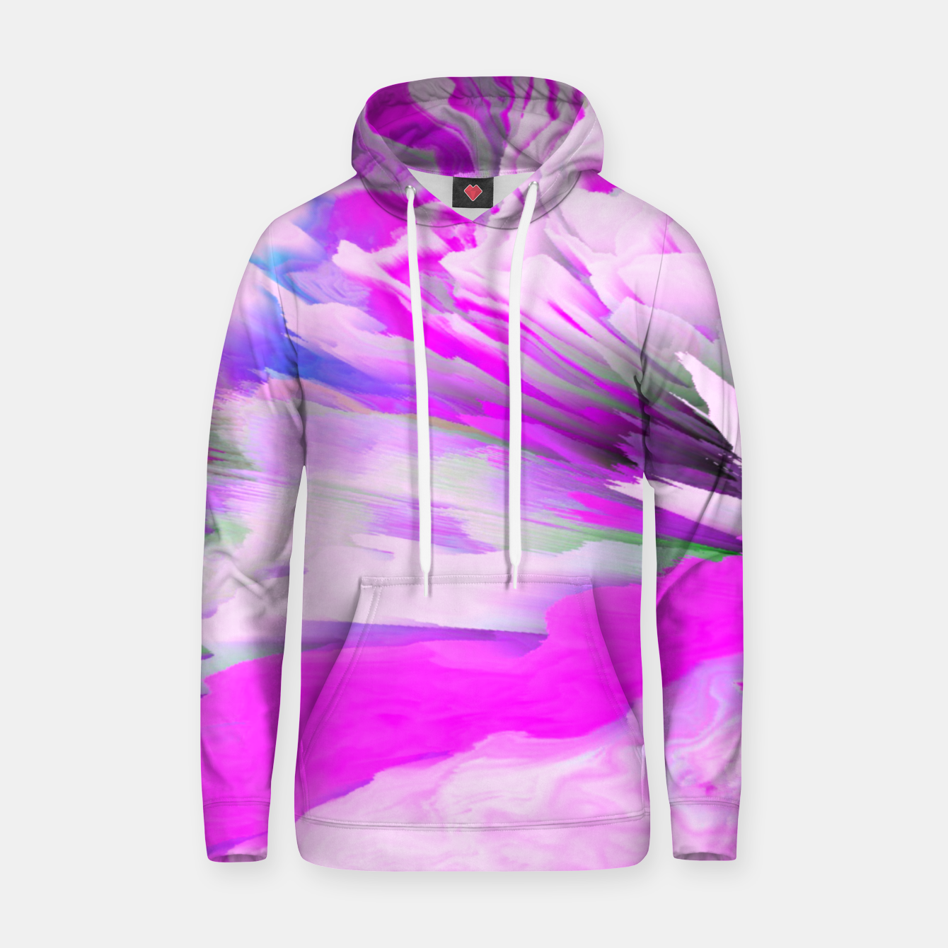 Image of Friendly Enemy Glitched Fluid Art Hoodie - Live Heroes