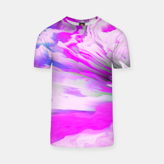 Friendly Enemy Glitched Fluid Art T-shirt thumbnail image