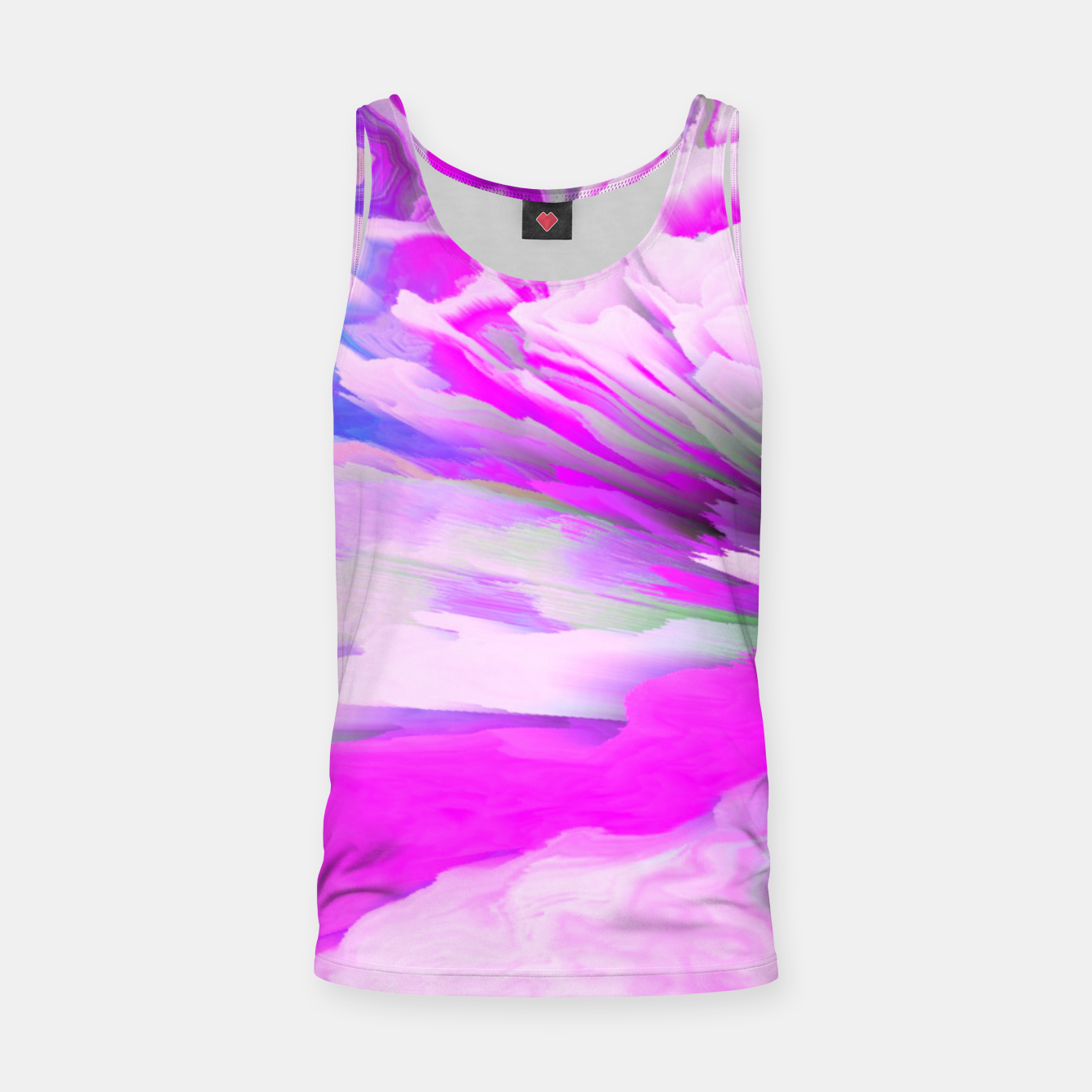 Image of Friendly Enemy Glitched Fluid Art Tank Top - Live Heroes