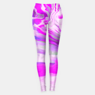 Friendly Enemy Glitched Fluid Art Leggings thumbnail image