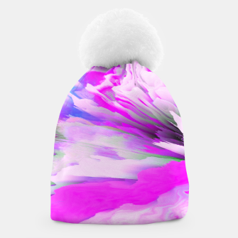 Friendly Enemy Glitched Fluid Art Beanie thumbnail image