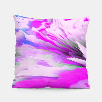 Friendly Enemy Glitched Fluid Art Pillow thumbnail image